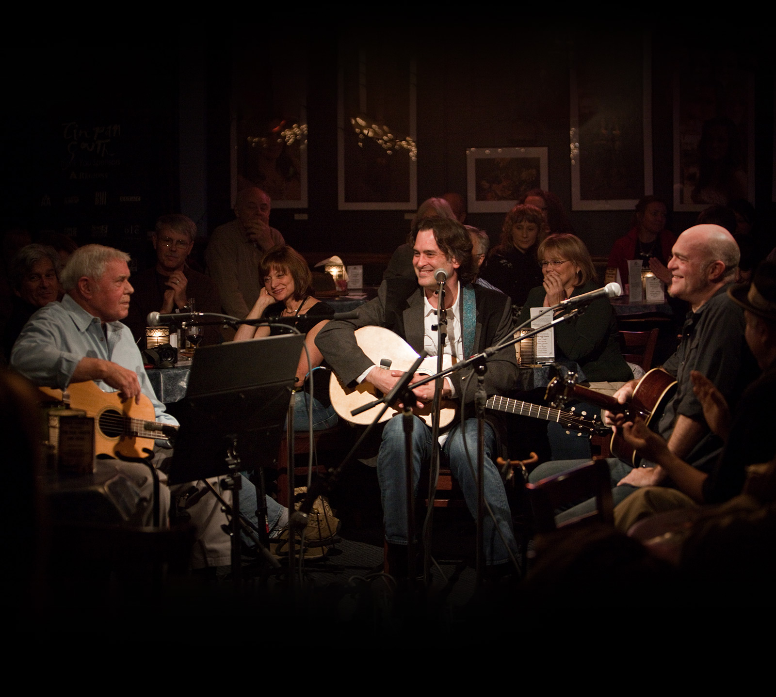 Tom T. Hall, Peter Cooper, and Eric Brace perform in-the-round at Nashville's Bluebird Cafe