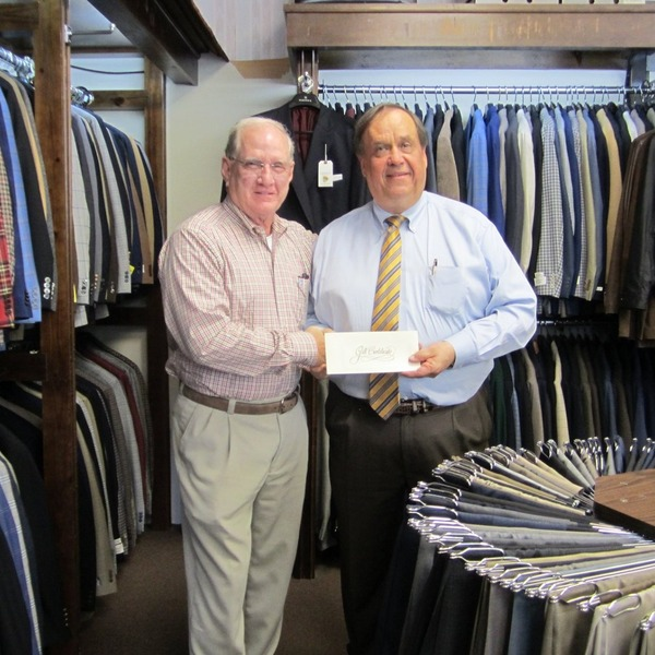 Larry McDaniel and customer Mike Ownbey