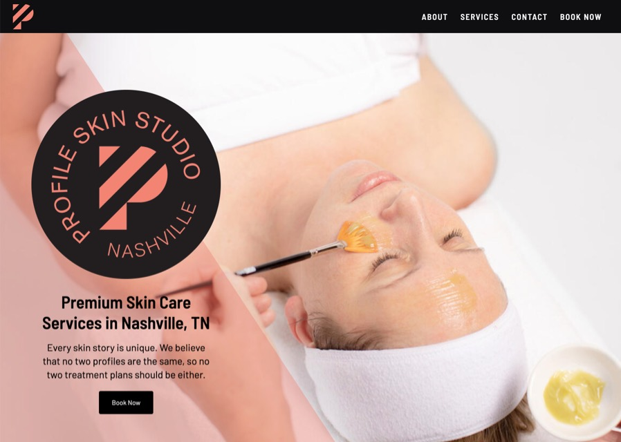 Profile Skin Studio website